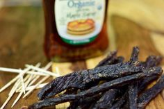 Then this maple syrup jerky is your new favorite jerky recipe! Ground Beef Jerky Recipe, Venison Jerky Recipe, Homemade Beef Jerky, Ground Venison, Jerky Recipes, Smoker Recipes, Meat Recipes, Beef Sticks Recipe, Beef Jerky Sticks