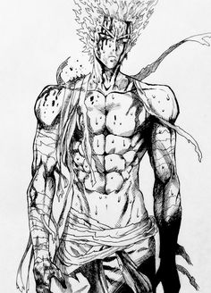 Garou From One Punch Man  He's my fav character One Punch Man Sonic, One Punch Man Anime, Saitama One Punch Man, Black Clover Anime, Metal Bat, Watch One, Man Character, Character Design, Manga Drawing