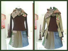 Upcycled skirt and scarf. Rick und schal upcycling