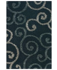 DOES THIS COME IN TEAL? Dalyn Area Rug, Omni Shag VN1 Black 9' x 13' - 10 x 13 Rugs - Rugs - Macy's