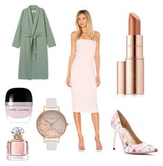 """""""Wedding Guest"""" by nina-ann on Polyvore featuring Norma Kamali, Estée Lauder, Guerlain, Marc Jacobs, GUESS by Marciano and Olivia Burton"""