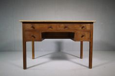 1930's Heals Oak Desk from Cambridge University