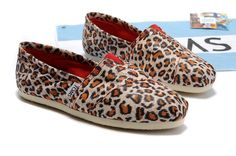 Toms Classic Shoes Womens Leopard Printing Suede