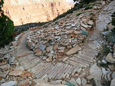 Grand Canyon National Park: Hermit Trail Cobblestone Paving 3747 | Flickr - Photo Sharing!