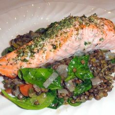 Salmon with lentils pregnancy nutrition