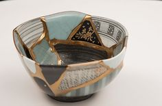 KUMAMOTO UTSUWA REBORN PROJECT 熊本器リボーンプロジェクト Kintsugi, Glass Ceramic, Ceramic Art, Kumamoto, Japanese Ceramics, Tea Ceremony, Wabi Sabi, Japanese Art, Three Dimensional