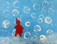 snowflake prints, snow prints, the snowy day, ezra jack keats