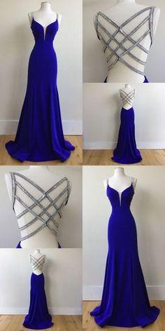 graduation vestidos Royal Blue Prom Dress For Teens, Prom Dresses, Graduation School Party Gown, Royal Blue Prom Dresses, Cute Prom Dresses, Backless Prom Dresses, Dance Dresses, Ball Dresses, Elegant Dresses, Ball Gowns, Sexy Dresses, Long Dresses