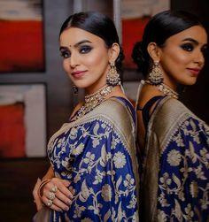 South Indian Sarees, Indian Sarees Online, Saree Wedding, Wedding Wear, Saree Blouse, Sari, Bridal Makeover, Designer Blouse Patterns, Blouse Designs
