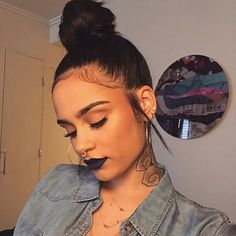 STYLIST FEATURE| Love this #topknot on @kehlani styled by #lastylist @bellacheveux❤️ Simple and chic  #voiceofhair ========================= Go to VoiceOfHair.com ========================= Find hairstyles and hair tips! =========================