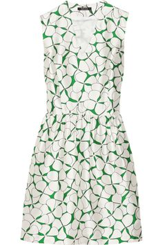 RaoulViola printed silk and cotton-blend dress
