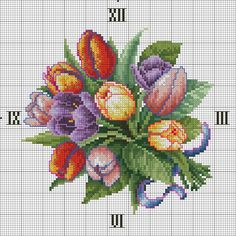 "Photo from album ""часы,вышивание"" on Yandex. Funny Cross Stitch Patterns, Embroidery Patterns Free, Needlepoint Patterns, Cross Patterns, Cross Stitch Designs, Cross Stitching, Cross Stitch Embroidery, Hand Embroidery, Satin Stitch"