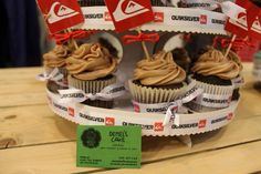 Cupcakes Quiksilver by Demel's cake. Donosti
