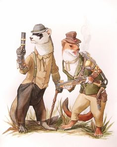 Steampunk Wind in the Willows illustrations are bursting with charm