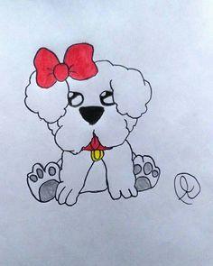 #pet #puppy #mascota #dog #perro #illustration #followme #colors #art #dibujo #animado #pencil #pen #sketch #draw #drawing #arts #artwork #amor #corazones #animals #animales #gawai #lindo #perritos #kawaii