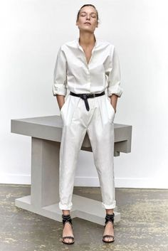 white on white with black accent...  Isabel Marant SS16 The most inspiring pieces to love & cherish