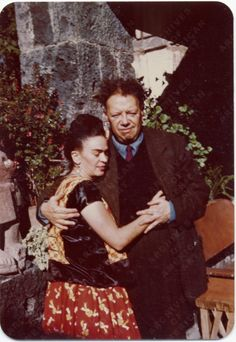 Frida Kahlo and Diego Rivera in Coyoacán, Mexico, 1948 Jan. 24