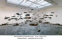 bruce nauman: one hundred fish fountain at gagosian gallery
