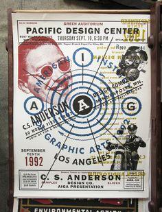 Charles Spencer Anderson @Aiga Langan Langan talk poster, 1992. #design #vernacular #grunge #punk