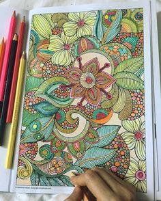 Tropical flowers  #colors #colours #colorful #coloring #colouring #coloringbook #colorpencils #warmcolors #watercolorpainting #watercolorpencils #adultcoloring #colortherapy #instacoloring #coloringaddict #valentinaharper #adultcoloringbook #ilovecoloring #coloringflowers #tropicalcoloring #kuelox #colleencoloredpencils