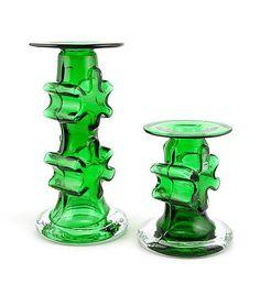 Kasperi: kynttilänjalat - Siiroinen, Erkkitapio Candelabra, Candlesticks, Glass Collection, Glass Design, Finland, Glass Art, Candle Holders, Vase, Ceramics