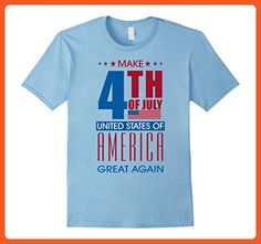 Mens Make 4th Of July United States Of America Greate Again 2XL Baby Blue - Holiday and seasonal shirts (*Partner-Link)