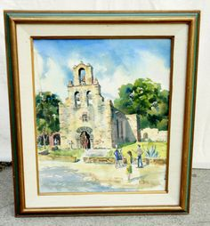 Watercolor Mission  Sunday John Squire Adams by kissmyattvintage, $425.00