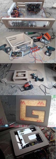DIY Power Amplifier home theater box