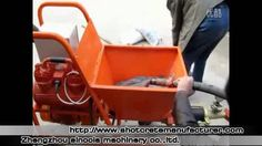 The Working Video of SPT30 Mortar Spraying Plastering Machine