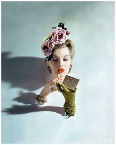 john rawlings flower hat   ... John Rawlings Flowered Hat Vogue 1943 (Re-Edit) Condè Nast Archive