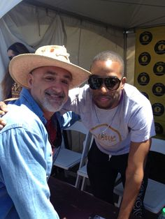 "Me and Troy ""Trombone Shorty"" Andrews at JazzFest 2012.  Troy and his band closed JazzFest on the Acura Stage...something I suspect he will ""own"" as long as he wants it."