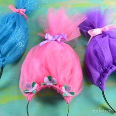 Trolle Stirnband - My Videos - Halloween costumes diy Trolls Birthday Party, Troll Party, 3rd Birthday Parties, Girl Birthday, Troll Halloween Costume, Halloween Diy, Karneval Diy, Los Trolls, Diy And Crafts