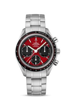 326.30.40.50.11.001 : Omega Speedmaster Racing Co-Axial Chronograph Red / Bracelet