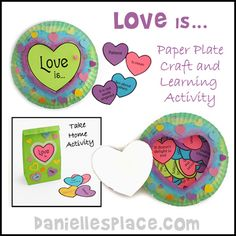 Love Is Review Game, Bible Craft, and Learning Activity for Valentine's Day from www.daniellesplace.com