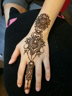 Henna hand for my customer