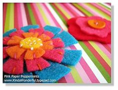 Come creare fiori di feltro e pannolenci - Pane, Amore e Creatività | Pane, Amore e Creatività