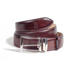 Chestnut/Satin Silver Belt   DONUM Men's Footwear & Accessories