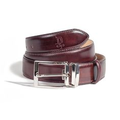 Chestnut/Satin Silver Belt | DONUM Men's Footwear & Accessories