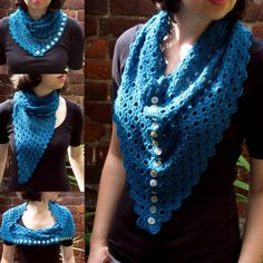 Multiplicity Buttoned Shawl | Make My Day Creative