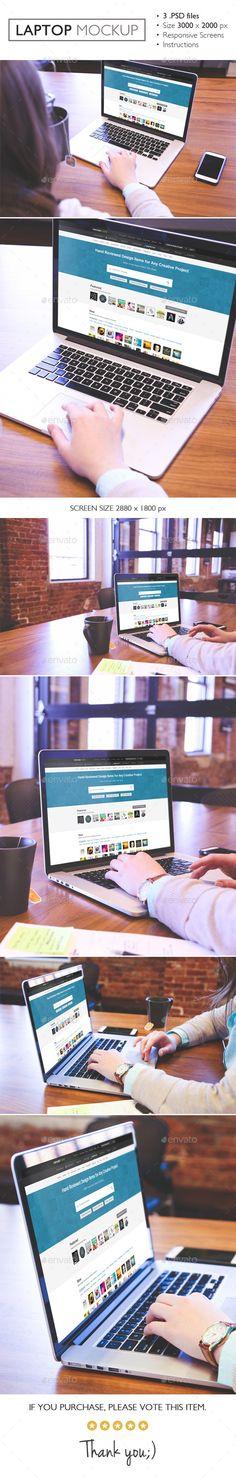Laptop Mockup #design Download: http://graphicriver.net/item/laptop-mockup/12241835?ref=ksioks