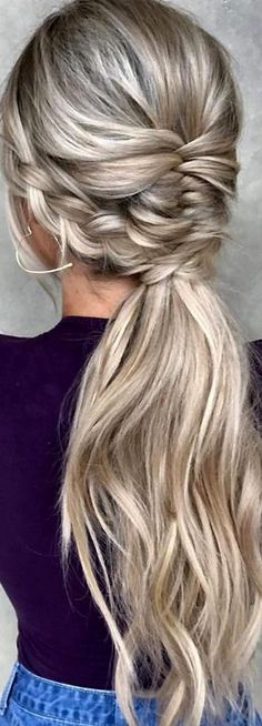 - Tattoo Crafts - Garden Decor DIY - DIY Bathroom Ideas - Formal Hairstyles - DIY Jewelry To Sell Fancy Hairstyles, Braided Hairstyles, Wedding Hairstyles, Teenage Hairstyles, Tail Hairstyle, Pinterest Hair, Hair Highlights, Fine Hair, Hair Dos