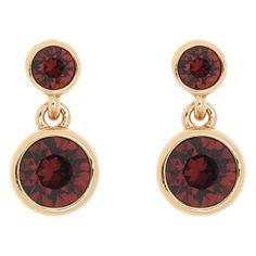 b65a2b7aed4f Dot Burgundy Silver Drop Earrings by Karen Millen. Crystal drop earrings  with burgundy diamanté detail