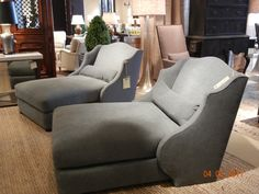 TV Lounger chaises by Lee Industries