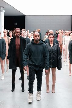Kanye presented one of the most beautifully diverse shows I've seen in awhile. This is fashion.  Kanye West x Adidas Originals Fall 2015 Ready-to-Wear - Collection - Gallery - Style.com
