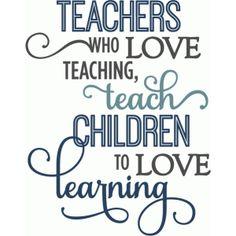 Silhouette Design Store - View Design #59204: teachers teach children love learning - layered phrase