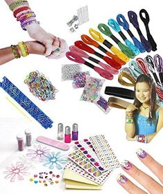 Amazon.com: Cra-z-loom Braclet Rubber Bands Maker Kit - Premium Loom Band Bracelet Kit - Stick N Sparkle Make Your Own Friendship Braclet, Make Colorful Bracelets to Share and Wear - Best Jewelry Making Kits - Shimer N Sparkle Create Your Own 3d Candy Nail - Awesome Holiday, Birthday Gift - Girls Wish Gift! 100% Fun Guarantee: Toys & Games