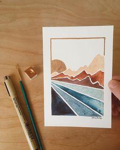 Watercolor Print, Watercolor Paintings, Watercolors, Art Sketches, Art Drawings, Diy Canvas Art, Diy Art, Art Inspo, Art Projects