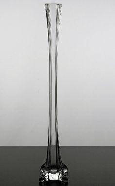 "Clear Glass Eiffel Tower Vases (20"" tall) $5 each / 12 for $4.69 each"