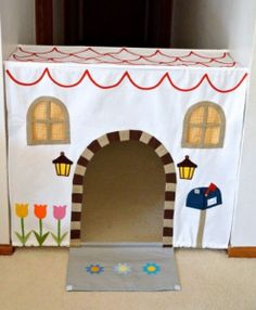 DIY Gifts for Toddlers and Kids:  Make Your Own Hallway Play House