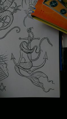 Mermaid anchor tattoo design                                                                                                                                                                                 More
